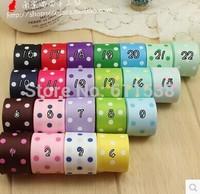 22mm Polka Dots Printed Grosgrain Ribbon for gift packing 22 Color Mixed - Free Shipping 44 yards/lot