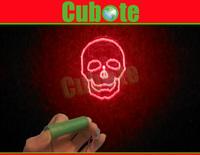 2014 Halloween Equipment 650nm Red Skull Laser Module(Silver)