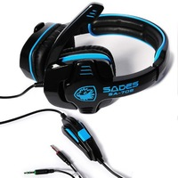 Hot Sale 100% New WCG game earphones voice headset with microphone for computer headphone with mic for PC game sades SA 708