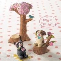Resin crafts zakka creative pastoral landscape cherry micro small stumps 2PCS/SET
