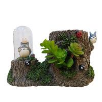 Resin home crafts creative gift pen storage box ornaments  Totoro in glass landscape C42