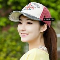 free shipping discount western Korean female hip-hop baseball cap visor 2014  personality m word pattern letters sun hat