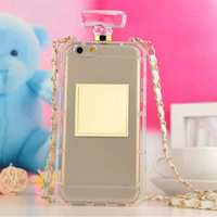 "Free shipping Handbag Cell Phone Case Perfume Bottle Cover for iPhone 6 4.7"" 5.5"" With Chain, many models for choice"