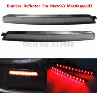 04-09 Mazda3 Mazdaspeed3 LED Bumper Reflector Black Smoked Lens Fog Bulb As Tail Brake Light