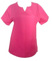 Fashion Round-neck with a deep V  neck medical scrub Top