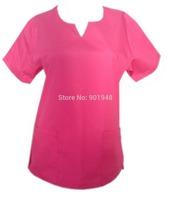 Fashion Round-neck with a deep V  neck medical scrub Top