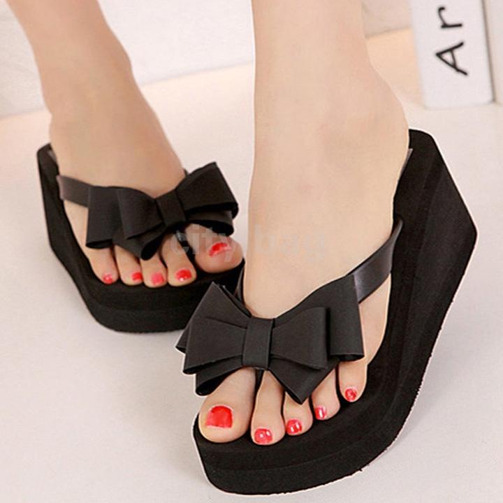 Bowknot Shoes Bowknot Shoes Black Eu36
