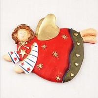 resin craft  fly Angel fridge magnet home decoration gift UKULELE 4pcs/set