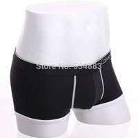 50pcs/lot 100% New high quality low price quick dry trunk shorts men underwear men boxers M/L/XL 3 colors