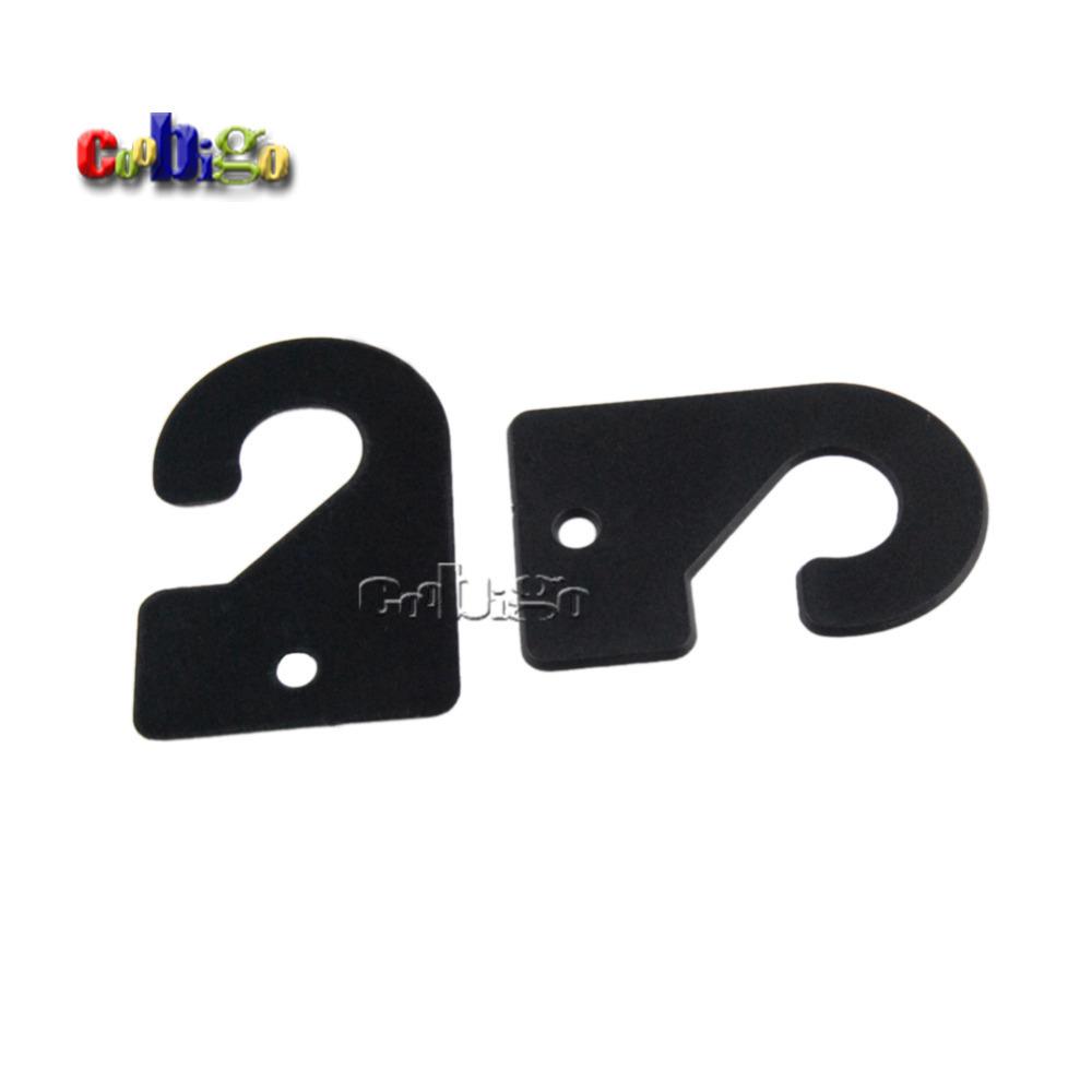 1000pcs Pack 49*32.5mm Black Plastic Hanger&Hook For Garment Textile Accessories #FLC234C-B(China (Mainland))