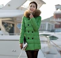 European Winter Jackets and Coats Women Parka Brand Design Fur Hooded Down Coat Medium Long Duck Down Jacket Thick Outerwear