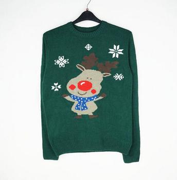 Уродливые рождество свитер унисекс женщин и мужчин 2014 новое поступление снежинка и оленей вязание шаблон бесплатная доставка