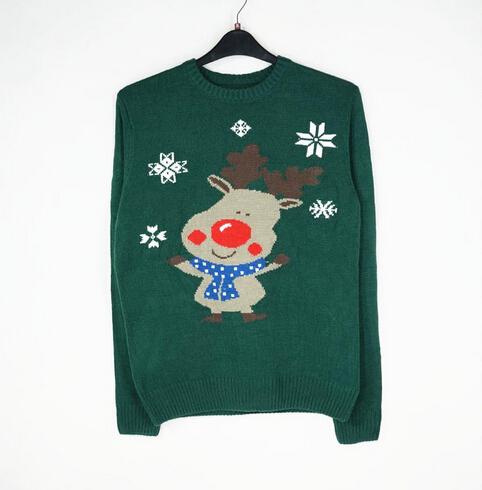 Mens 2015 New Arrival Snowflake & Reindeer Knitting Pattern Free