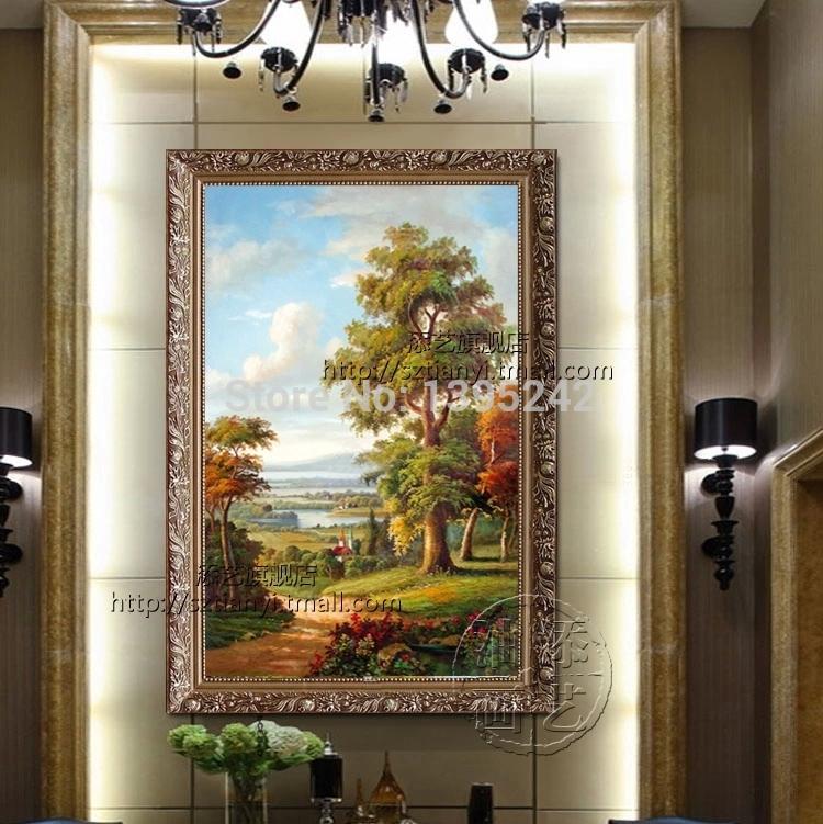 Online kopen wholesale europese olie schilderijen uit china europese olie schilderijen - Schilderij van gang ...