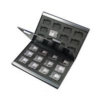 10PCS Black Aluminum Memory Card Holder Case for 24 TF micro sd card
