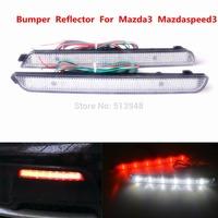 04-09 Mazda3 Mazdaspeed3 LED Bumper Reflector Clear Lens Fog Bulb As Tail Brake Light