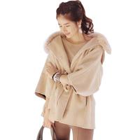 Hot Selling Casual Three Quarter Sleeve Women's Coats 2014 Elegant Solid Plus Size Sashes Casacos Femininos 203