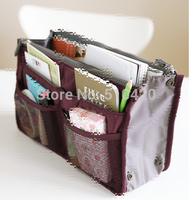 Hot sell dual zippers cosmetic bag Women Cosmetic Bags Large makeup bag multifuncional organizer necessaries Storage