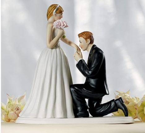 Romantic A Cinderella Moment Couple Wedding Cake Topper Picture Perfect Couple Figurine