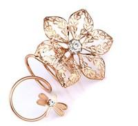 Hot Fashion Alloy Rhinestone Butterfly Ring Jewelry Yiwu Jewelry Wholesale # 42