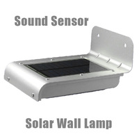 New IP64 Waterproof 16 LED Solar Power Sound+Ray  Sensor Panel Outdoor Street Garden Wall Light Lamp
