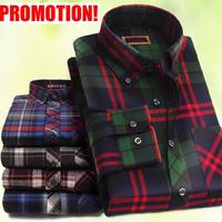 2014 New Hot Men's Casual Slim fit Stylish Dress Long Sleeve Shirts,men's plaid shirt Fashion cotton promotion plaid shirts