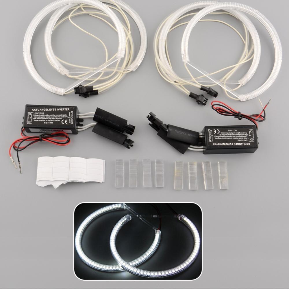 Hot New 4x CCFL Angel Eye Eyes Halo Rings Light Lamp bulbs Kit for BMW E36 3 E38 white drop shipping(China (Mainland))