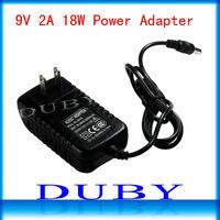 Free fedex 80piece/lot  AC 100-240V to DC 9V 2A Power Adapter Supply Charger For LED Strips Light EU/US Plug