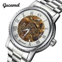 Relogio masculino 2014 Watches men luxury brand Business Men Wristwatches Full Steel Waterproof Semi-automatic Mechanical Watch