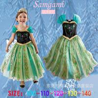 DHL Free shipping 2014 new design Frozen Dress Elsa's and Anna's girl dresses,frozen princess elsa anna dress