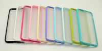 10pcs 4.7 Inch TPU+PC Frosted Transparent Shell Phone Case For iPhone 6 Candy Color Silicone Sleeve Cover Cases For iPhone6
