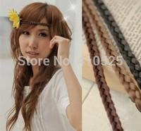 28cm Wig compiled plaited hairband women,headband,braid plait hair band accessory 100 pcs