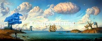 kush106 100% handmade reproduction oil paintings of famous artists wall art canvas sea painting high quality gifts
