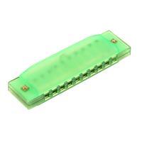 10pcs Hot 10 Holes Diatonic Green Harp Harmonica Key of C Translucent