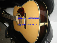 Wholesale -Acoustic Electric Guitar Custom Shop fishman Guitar nature color Free shipping with case