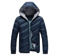 2014New Arrival Winter Men Jacket Hooded Casual Warm Zipper 4Colors Down-Jacket Coat KA012