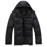 2014 New arrival Big sale Men Black Down Jacket Winter Outdoor Parka Waterproof and Warm Top quality Plus Size L-XXXXL Y042