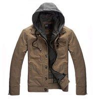 2014 New jackets for men, top brand quality leisure suits,turn down collar zip hooded jacket autumn men's overcoat Outdoor coat