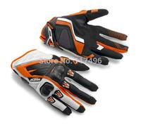 2014 New Arrival!!! KTM Genuine Leather Gloves Motorcycle Motorbike Motorcross ATV OFFROAD Racing Gloves KT002