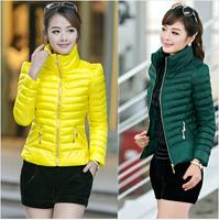5color Ladies plus Size Thicken Cotton Jackets Coat Women 2014 New Fashion Warm Winter Coat Casual Women Down Jacket Coat L-XXXL