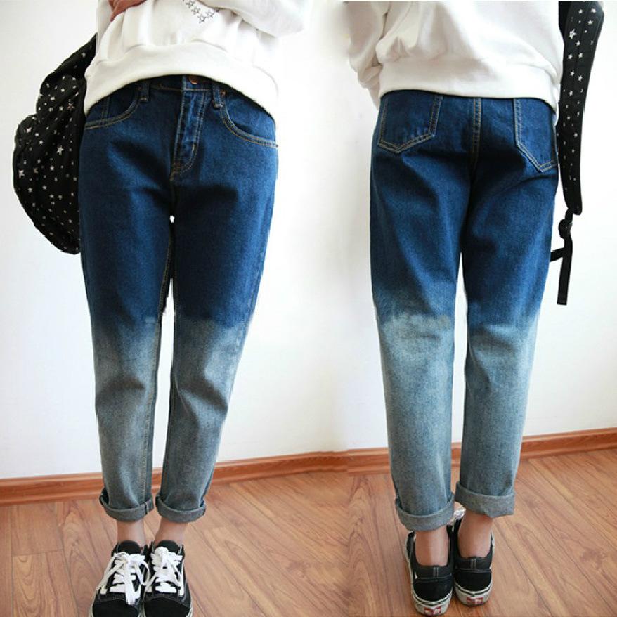 Как из синих джинс сделать белые