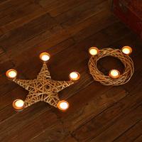 metal wicker candlestick  candle holser Christmas supply Wedding decoration home decor Hotel candelabra