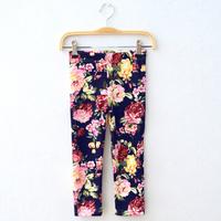 5pcs/lot Fashion Children's Cotton Winter Pants Warm Girls Leggings 2014 Kids Thickening Trousers Flower Print Leggings for Girl