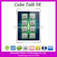 9.7 Inch Cube Talk9x U65gt Talk 9X 3G Octa Core Tablet PC 2048x1536 Dual Camera 32GB ROM Android 4.4 WCDMA 2100MHz GPS 10000mAh