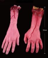 1 Pcs Halloween Horror Props Scary Toys Medium bloody hands