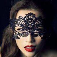 Sexy Girl Lace Eye Mask Eye Veil for Halloween Masquerade Party Black