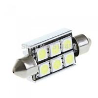39mm 6 5050 SMD LED Canbus White Car Interior Dome Festoon Light Lamp Bulb