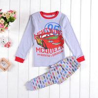 Free Shipping 2014 New Spring Boys Cartoon Pajamas Baby Printed Pyjamas Pijama Kids Long Sleeve Sleepwears Family Clothing set