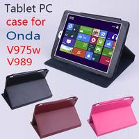Onda V975I V975W V989 Leather Case Stand PU 9.7 inch Tablet PC Case Fashion Ultra-Thin Onda V989 Case Free Shipping