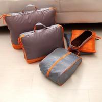 Free shipping BF010 Fashion Travel bag travel large capacity folding finishing bag packaged combination 6pcs/set